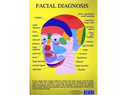 Cranial Reflexology Chart Facial Diagnosis A4 Chart