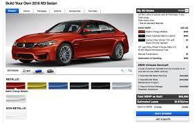 2016 Bmw M3 Facelift Online Configurator