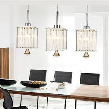 3 light crystal shinning large glass pendant lights with hardrware throughout remodel 18 dining room