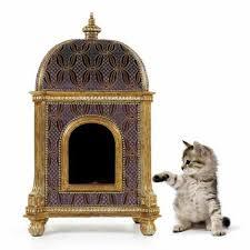 luxury pet furniture. Casa Padrino Baroque Luxury Cat House Golden Temple - Seat Furniture Pet Furniture. Loading Zoom