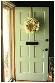 green front doorsOur New Mint Front Door  Run To Radiance
