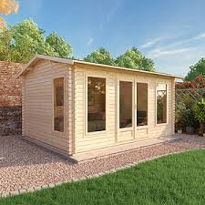 outside office shed. 4.5m X 3.5m Waltons Home Office Director Log Cabin Outside Shed