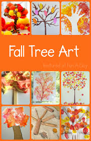 fall art projects for kids - 10 fall trees