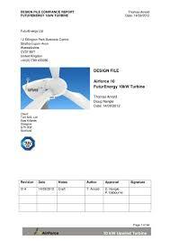 Limiting Factors In Turbine Design Wind Turbine Design File Report