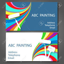 business card for a painting business vector stock vector 33443521