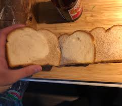 First 2 Slices Had A Little Bit Of White Bread In The Brown Loaf
