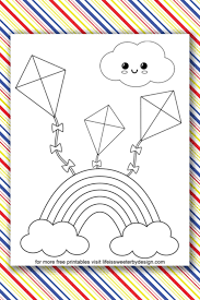 Rainbows are the perfect subjects for coloring. Rainbow Coloring Pages Life Is Sweeter By Design