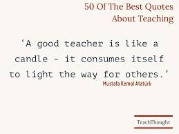 Educator Quotes Cool Top 48 Best Quotes About Teaching TeachThought