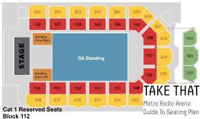 Metro Radio Arena Seating Chart Metro Radio Arena Newcastle Take That 2015