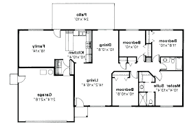 single level ranch house plan one bedroom house floor plans open floor ranch house plans fresh single level