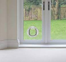 cat flaps in double glazing glass