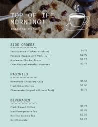 Breakfast Menu Template Impressive Customize 48 Breakfast Menu Templates Online Canva