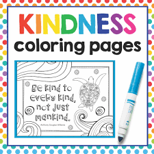 Choose Kindness Coloring Page Royalty Free Vector Image Throughout