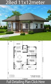 Neat House Designs Home Design Plan 11x12m With 2 Bedrooms Neat House Plans