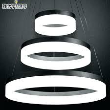 led ring chandelier light large ring led chandelier