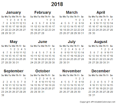 yearly printable calendar 2018 blank monthly calendar 2018 monthly printable calendar