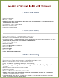 Wedding To Do List Template Make Your Planning Easier