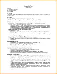 Sample Resume With No Work Experience First Resume With No Work