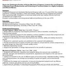 Sample Resume For Mechanical Engineer Fresher Sample Resume Ideas