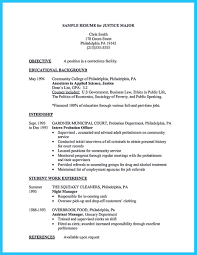 Sample Criminal Justice Resumes Pin On Resume Template Resume Sample Resume Resume Objective Sample