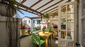 Covered balcony designs deck mediterranean with succulent spanish colonial  revival outdoor dining