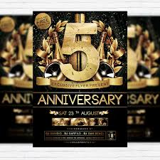 Anniversary Premium Flyer Template Facebook Cover