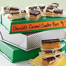 bake recipes taste of home chocolate caramel cracker bars