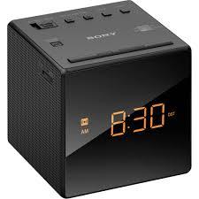 sony radio alarm clock (black) icfcblack bh photo video