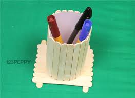A Popsicle Stick Pen Holder ?