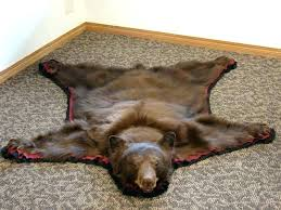 real bear skin rug area beautiful round rugs patio and hide grizzly black bytes r fake fur panda bear skin bearskin rug