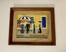 ALBERT KRAMER - Folk Art Gouache on Paper Southern Town CALIFORNIA ARTIST  17x22 - $4,999.99 | PicClick