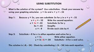 using substitution