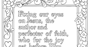 Our printable kids sheets and pictures are not for commercial use. Coloring Pages For Kids By Mr Adron Hebrews 12 2 Print And Color Page Fixing Our Eyes On Jesus
