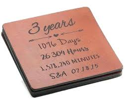 3 yr anniversary gifts for him gift leather year coasters ideas your boyfriend copper 7th anniv