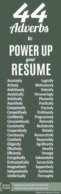 Resume Tips Resume Skill Words Resume Verbs Resume Experience