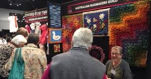 there was much interest in the colourful display and martha has formed a facebook rug hooking group