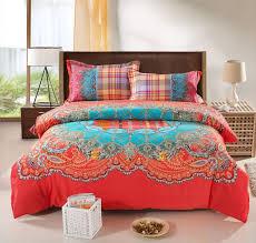 orange king size comforter sets bohemian bedding set thicken cotton brushed 9
