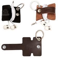 leeman genuine leather cord organizer w snap