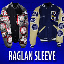 basic raglan letterman jacket
