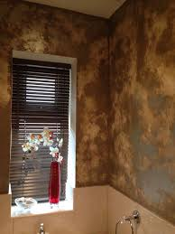 rag rolled walls with metallic paint