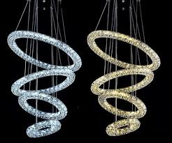 modern big chandelier led crystal 4 rings chandelier