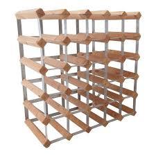 wood metal wine rack. Interesting Rack Vintage Modular MidCentury Natural Wood And Metal Wine Rack On D