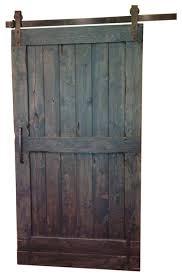 rustic sliding barn door dark walnut