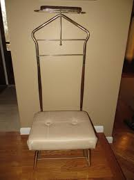 chair valet stand. vintage pearl-wick val-o-seat mens valet butler stand chair