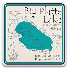 Loon Lake Depth Chart Amazon Com Loon Lake In Lake County Mi 2352 La Square