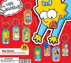 Simpsons Vending Machine Enchanting Buy The Simpsons Dog Tag Key Chains Vending Capsules Vending