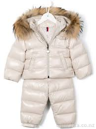 Kids Clothing - Moncler - Nude   Neutrals Baby Coats 40153838 - padded  jacket and pants