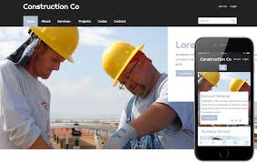 Construction Website Templates Stunning Construction A Real Estate Category Flat Bootstrap Responsive Web