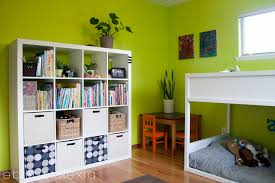 Kids Bedroom Shelving Kids Room Bedroom Green Wall Color Paint Ideas For Boys Regarding