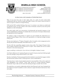 home warilla high school letter to the community 08 03 17